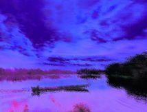 Soir sur fleuve amérindien