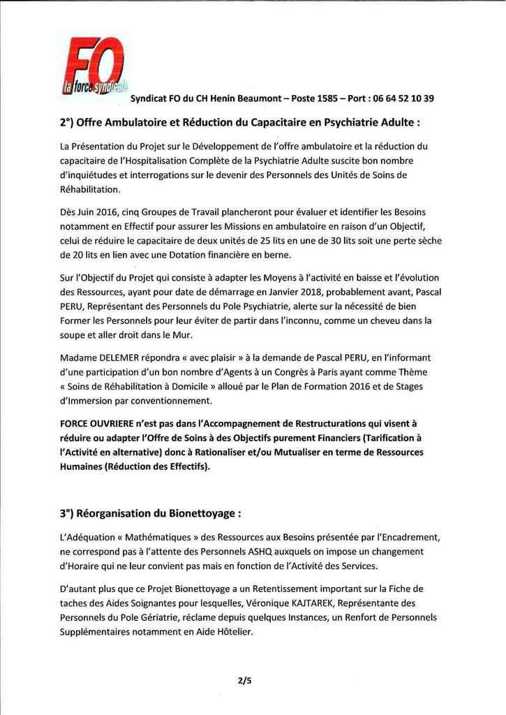 Compte Rendu des Instances de JUIN 2016...