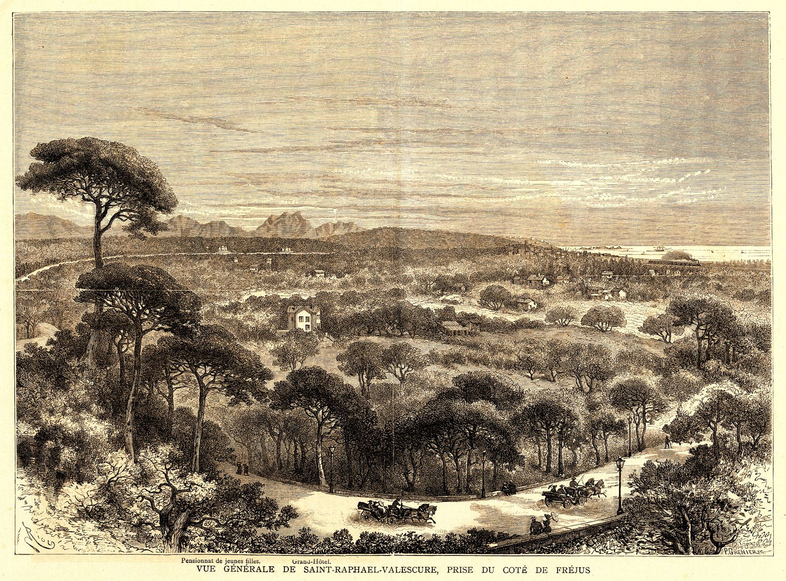 L-Illustration 1882 - La route de Vallescure