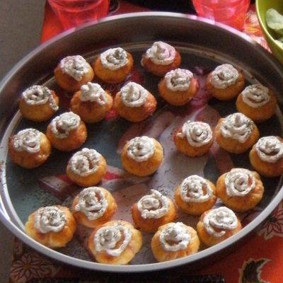 Mini cupcakes salés au saumon (idéal pour apéro de fêtes)