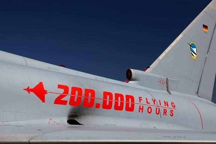 200.000 heures de vol pour les Eurofighter Typhoon.