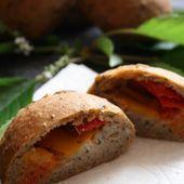 Pains aux graines, poivrons, mozzarella { sans gluten, sans oeufs } - Allergique Gourmand