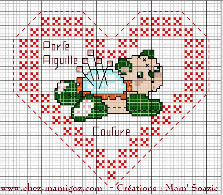 Coeurs Valentin Porte-aiguille : face A