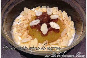 Pomme cuite à la crème de marron sur lit de fromage blanc #BatailleFood29