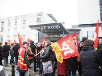 Rassemblement des agents hospitalier de Montluçon devant le bâtiment PT1. Clichés réalisés par Didier Ciancia. © Didier Ciancia, tous droits réservés.