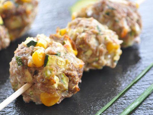 boulettes de viande de boeuf au maïs