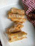 Bricks à la patate douce, aux haricots et au thon