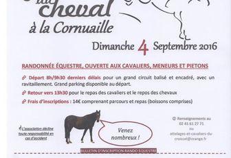 Rando à La Cornuaille (49 limite 44) dimanche 4 septembre 2016