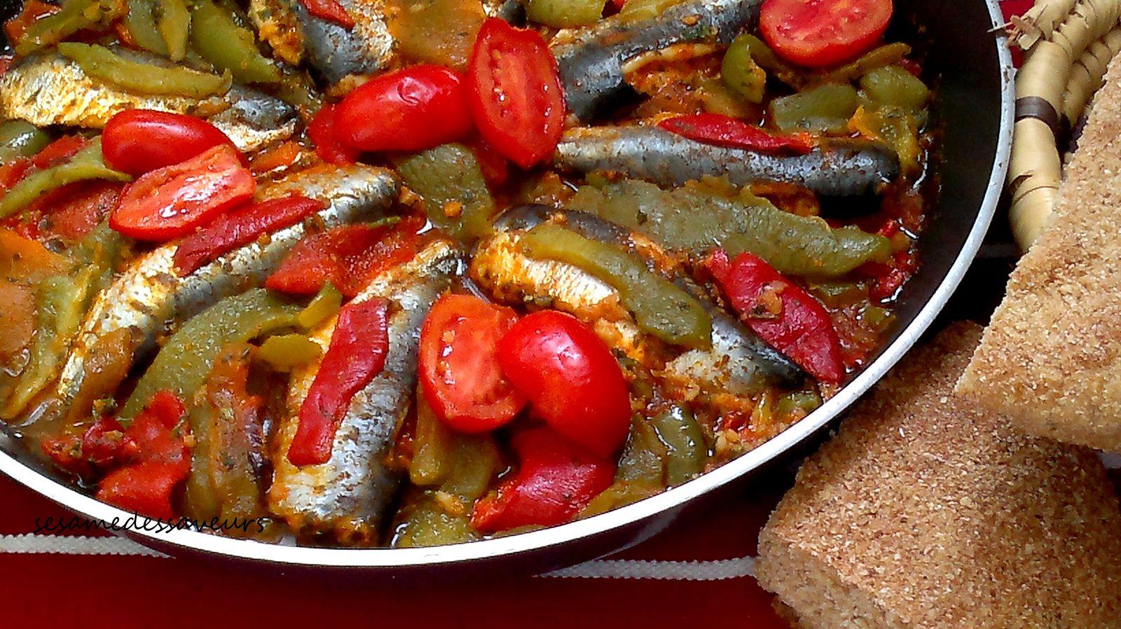 Tajine de sardines aux poivrons