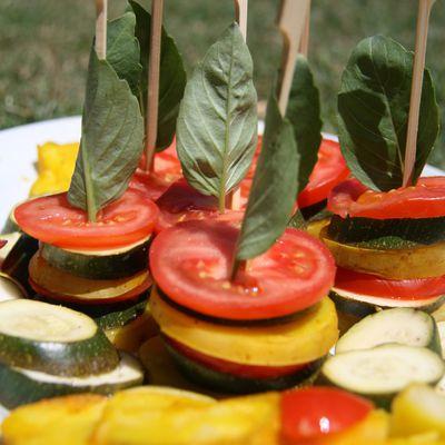 Garniture de légumes colorée
