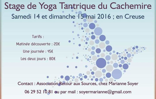 Stage de yoga tantrique en Creuse