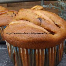 Delicieux muffins aux pommes,pépites de chocolat. IG BAS . Healthy. Végétarien ou pas..et les 5 ans du blog.
