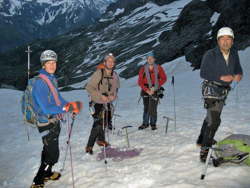 Initiation alpinisme CAF de Marseille - les Rouies - massif des Ecrins