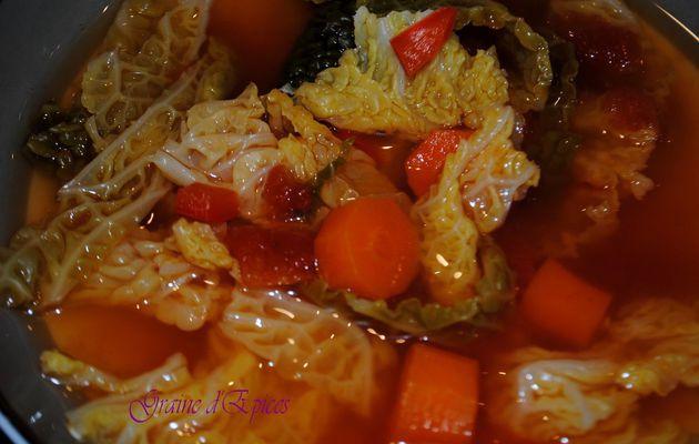 Soupe au Chou végétarienne