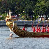 Répétition du défilé des barges royales à Bangkok - Noy et Gilbert en Thaïlande