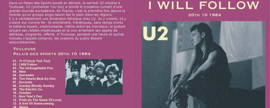 U2 -Unforgettable Fire Tour -20/10/1984 -Toulouse -France -Palais Des Sports