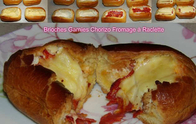 Recette: Brioches Garnies Chorizo Fromage à Raclette