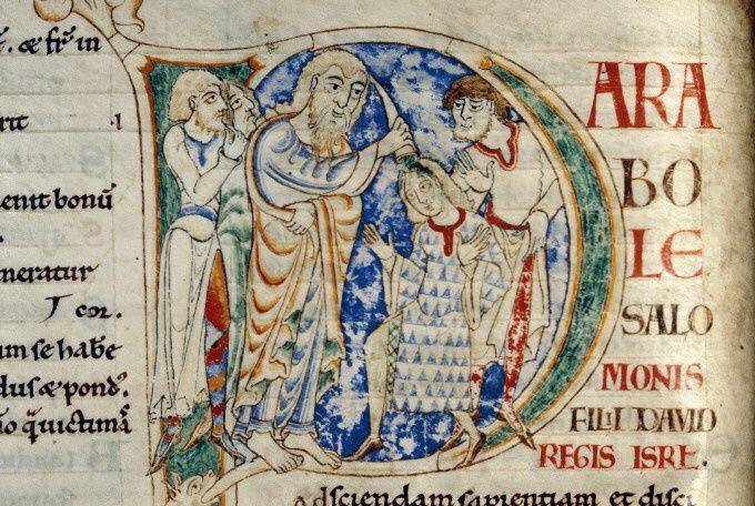 Codex du XIIème siècle, bibliothèque municipale de Dijon (ms. 13, fol. 112 [1]). Source des images : Wikipédia Commons.