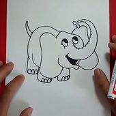 Como dibujar un elefante paso a paso 6   How to draw an elephant 6