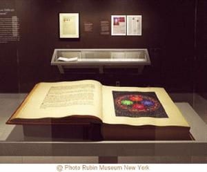 Exposition de l'original du Livre rouge de C.G. Jung au musée Guimet
