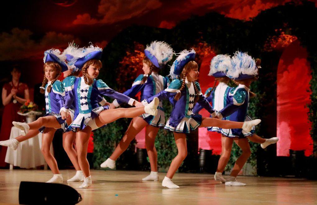 Alle drei TSG-Garden tanzten ihre Märsche direkt hintereinander und am Schluss dann alle gemeinsam als Marschblock.