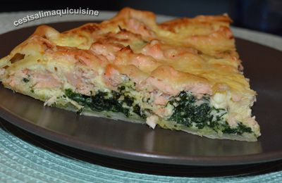 Quiche au saumon et épinards