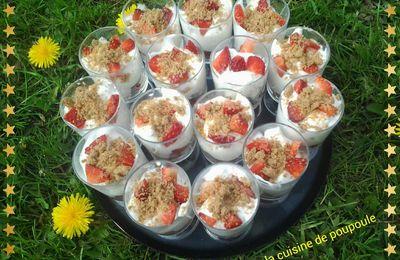 Nuage vanille fraise, spéculos WW au thermomix