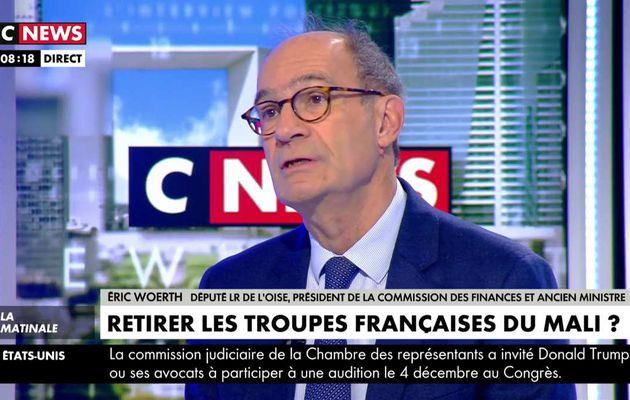 Eric Woerth : « La France n'est pas au Mali pour l'éternité »
