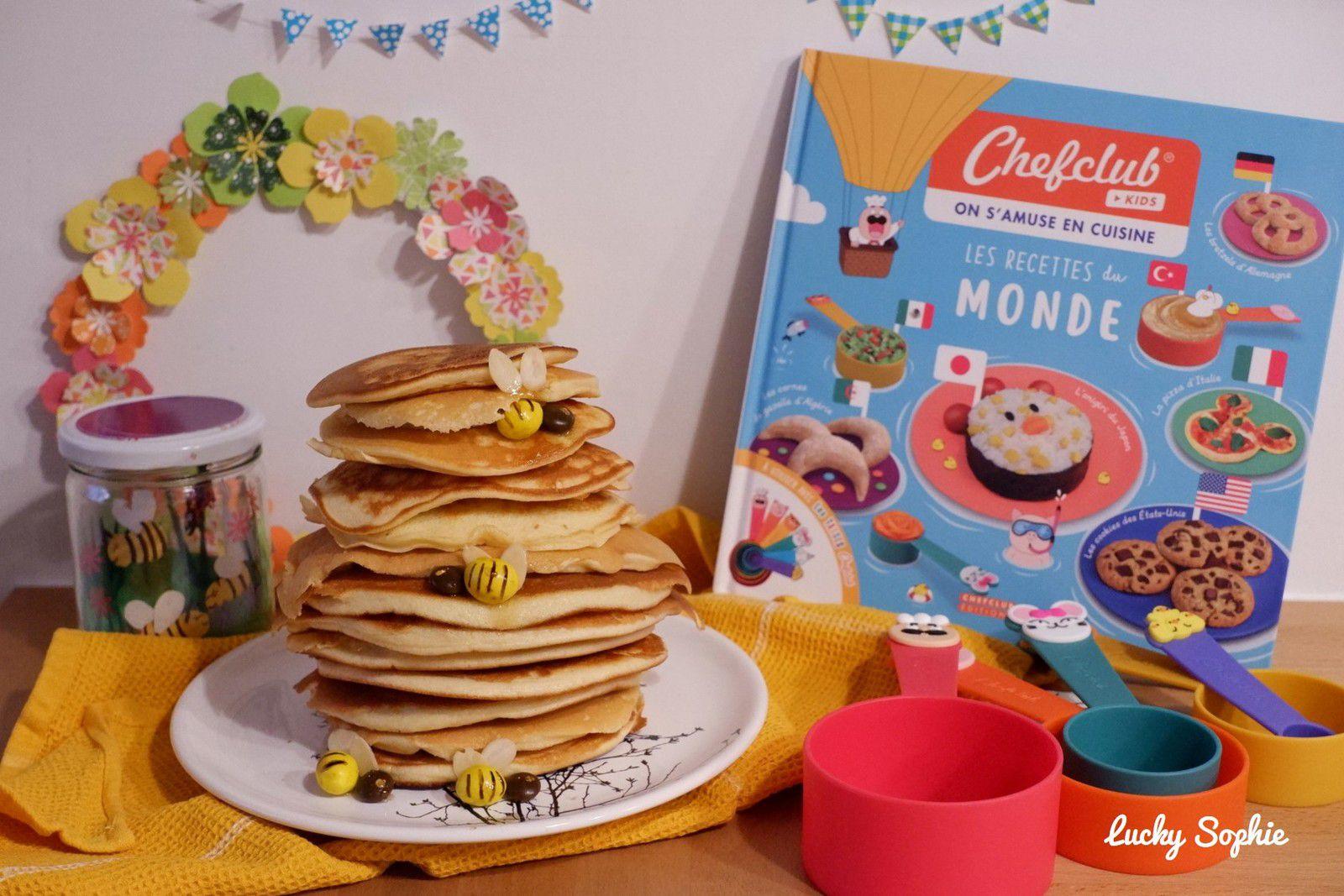 Une ruche de pancakes, la chouette idée de Chef Club kids pour amuser les enfants en cuisine !