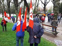1er mai 2021 : FO célèbre les 150 ans de la Commune de Paris devant la statue de Jules Vallès