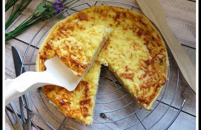 Quiche au cantal