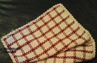 Couverture crochet tissé