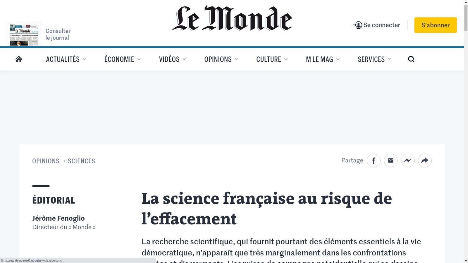 Source: https://www.lemonde.fr/idees/article/2021/09/28/la-science-francaise-au-risque-de-l-effacement_6096295_3232.html