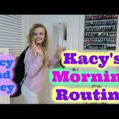 Kacy's School Morning Routine 2017 ~ Jacy and Kacy