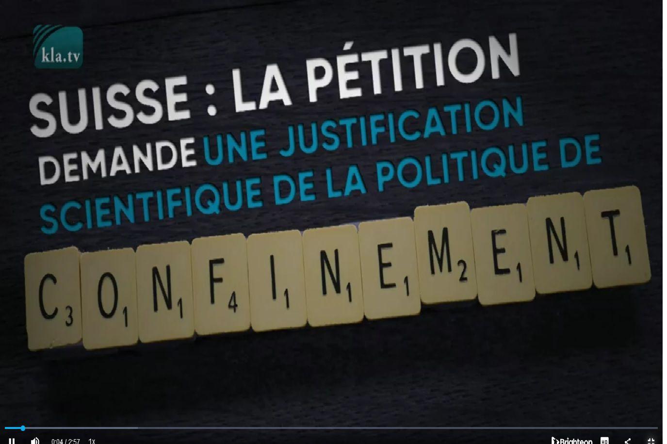Une pétition suisse demande la justification scientifique du confinement