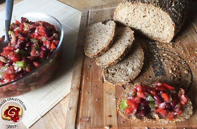 Recette : Tartare de tomates et haricots rouges