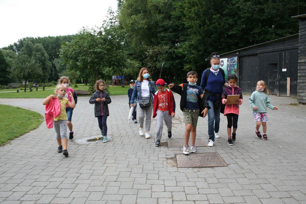 Vendredi 6 Août 2021. A la base des 6 Bonniers, les enfants du centre Lavoisier ont profité de trois animations: le lasertag, une course d'orientation et une chasse aux monstres!
