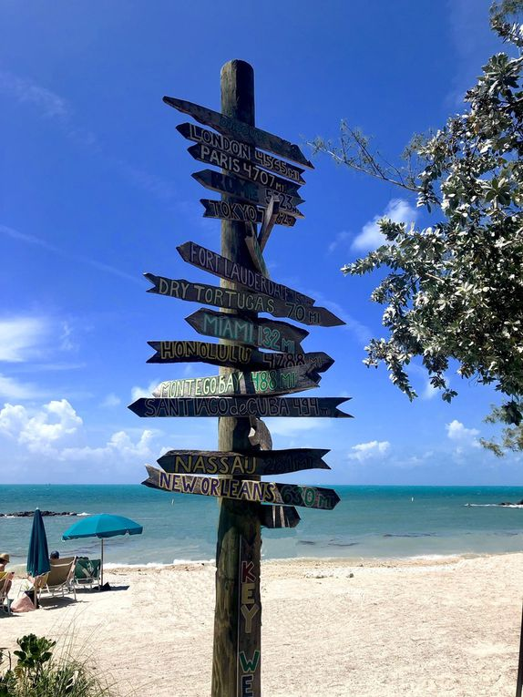 KEY WEST, le point  le plus au sud des USA ... au loin : CUBA