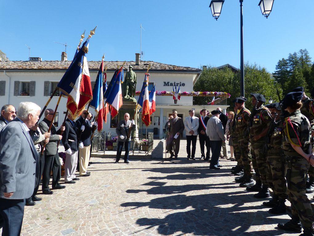 Retour sur les commémorations du 70e anniversaire de l'incendie de Bessans du 13 septembre 1944.  Photos : N.Tracq, S.Suiffet