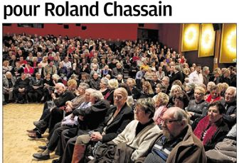 Des voeux engagés pour Roland CHASSAIN