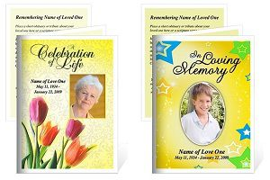 Celebrate Life with Memorial Service Cards