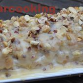 Bûche roulée aux pommes et aux épices, glaçage caramel - Shukar Cooking