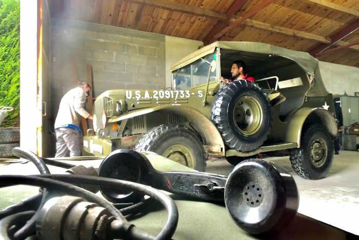 Les jeeps de l'US Army sont des pièces très prisées des collectionneurs • © Cédric Cottaz (FTV)