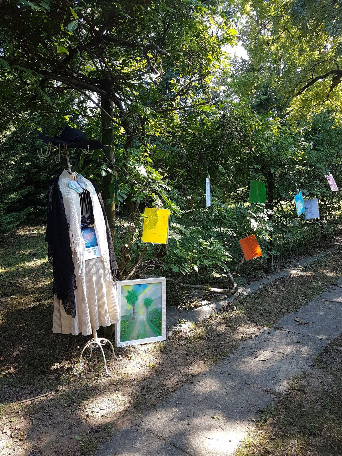 L'Art aux temps du Coronavirus - installation de l'artiste italienne Lidia Chiarelli, Agliè-Turin