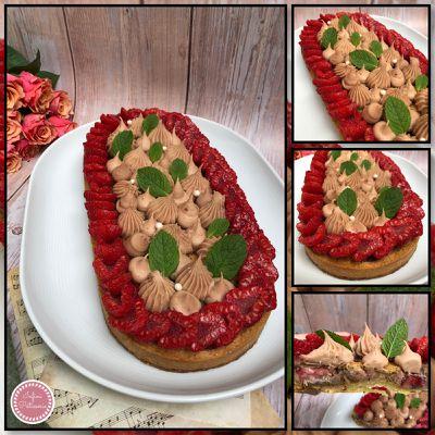 Tarte estivale fraise 🍓 et framboise ☀️