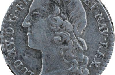 Dixième Ecu dit Au Bandeau Louis XV 1741 Atelier L (Bayonne) Pau