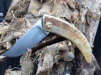 Guillochage du vis laiton. Couteau Inspiration Corse