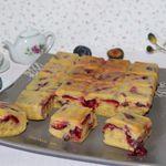 Gâteau 4/9 à la prune