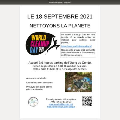 Septembre 2021 - Forum des associations et ramssage des déchets