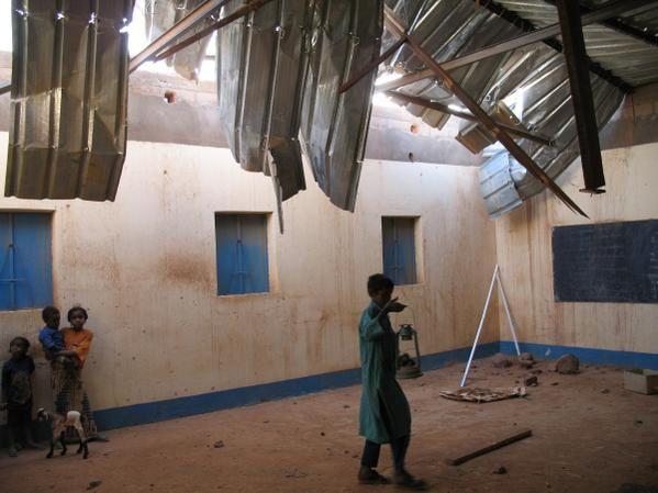 Ecole de Sikerat au nord Niger, entre Agadez et Arlit.